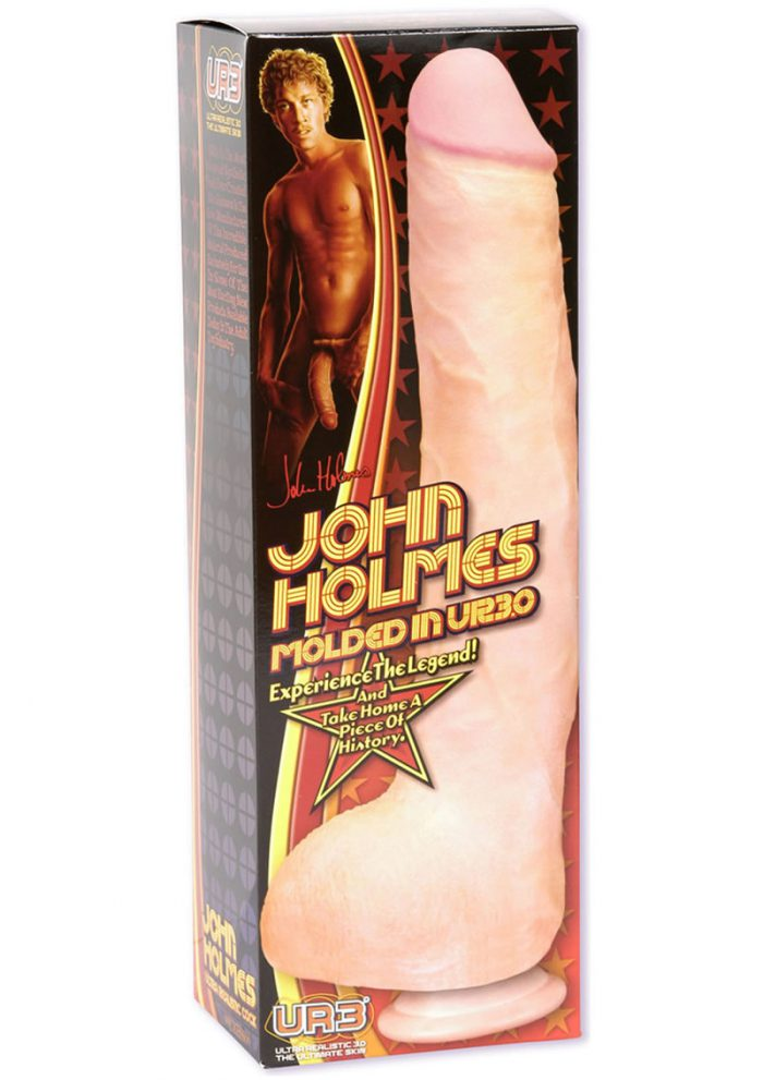 John Holmes Realistic Cock 12 Inch Flesh