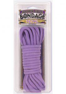 Japanese Style Bondage Rope 32 Feet Purple