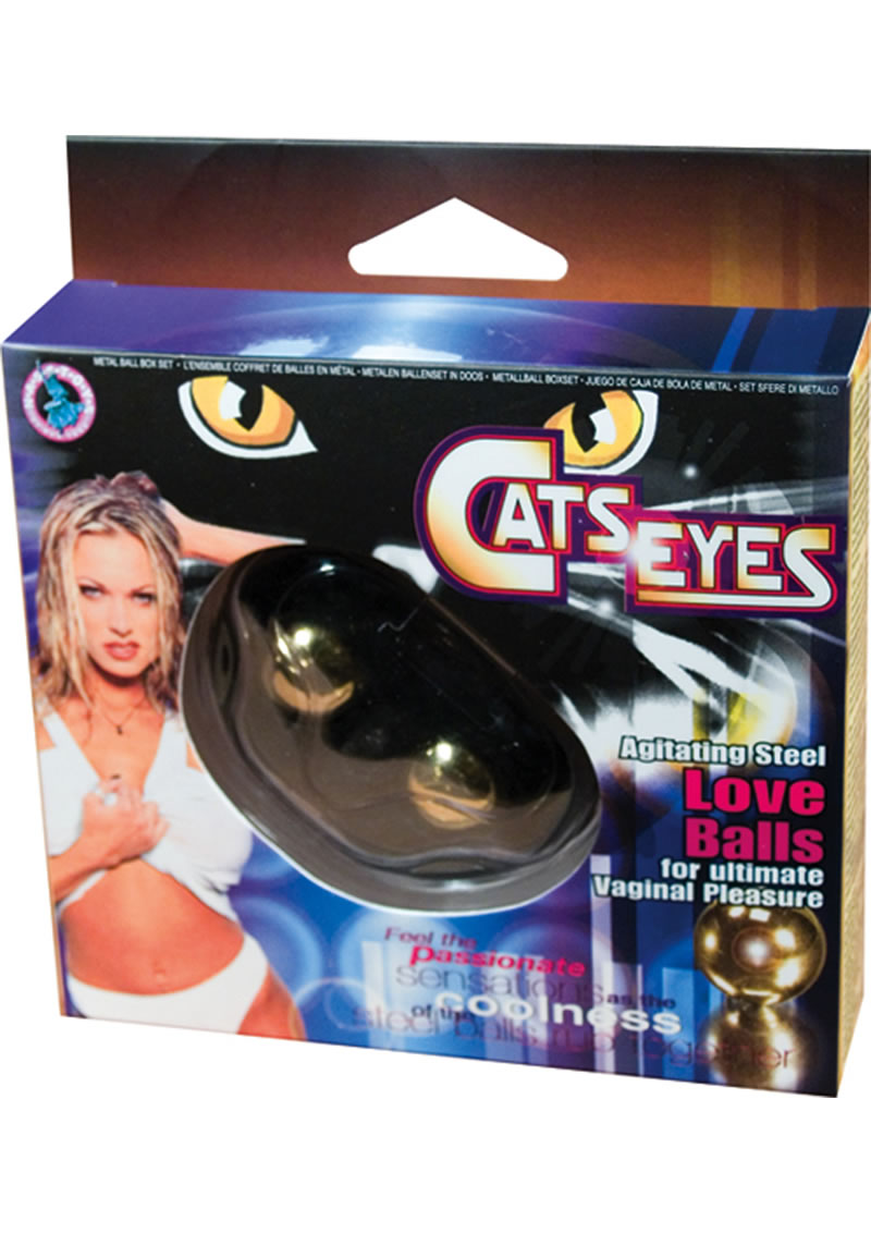 Cats Eyes Steel Love Balls for Ultimate Vaginal Pleasure Gold