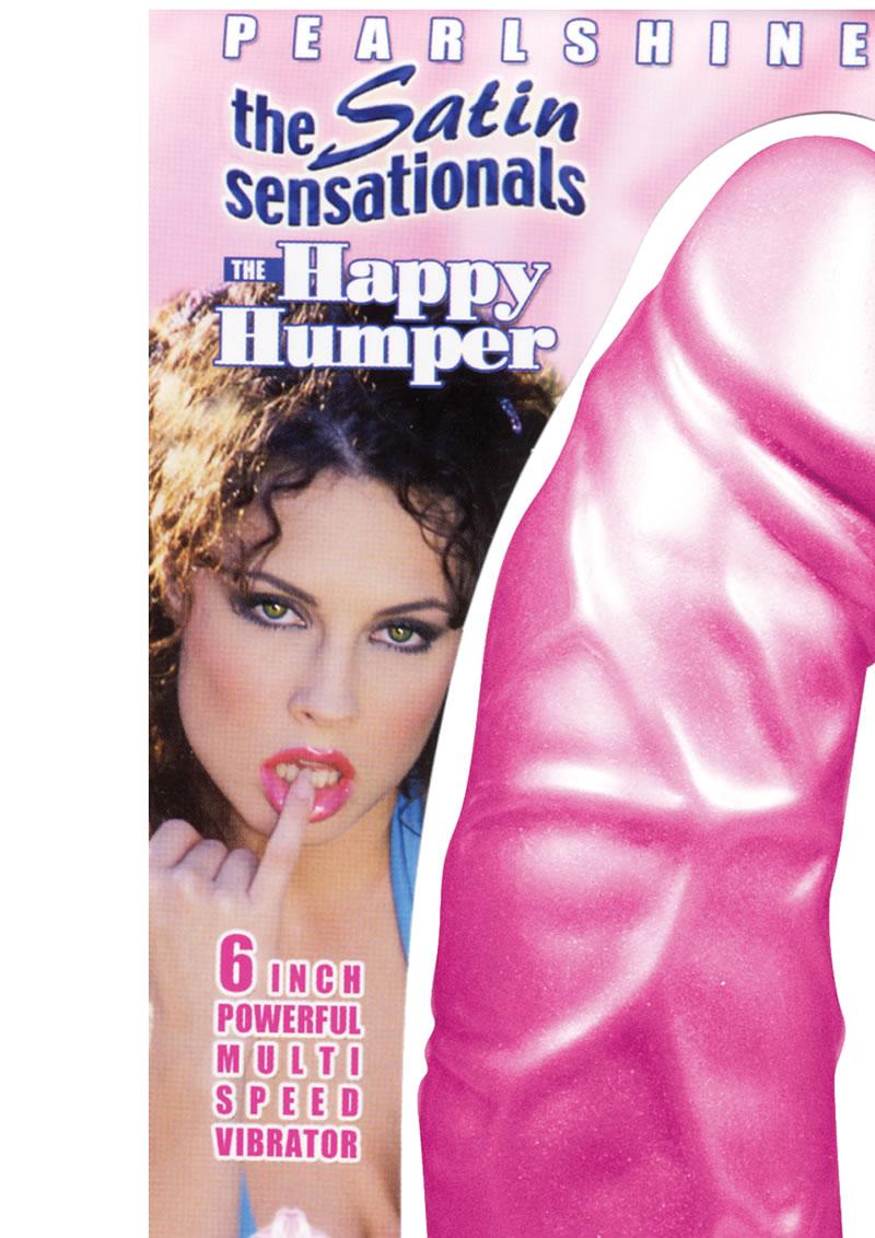 Pearlshine The Satin Sensationals The Happy Humper Vibrator Waterproof 6 Inch Pink