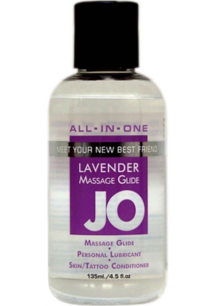 Jo Sensual Massage Oil All In One Lavender 4 Ounce