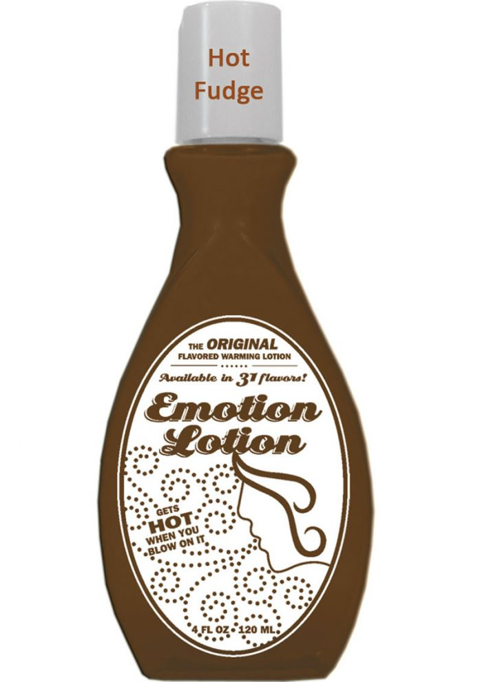 Emotion Lotion Flavored Water Based Warming Lotion Hot Fudge 4 Ounce