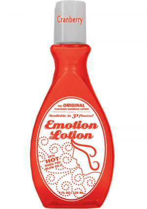 Emotion Lotion Flavored Water Based Warming Lotion Cranberry 4 Ounce