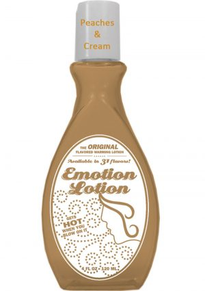 Emotion Lotion Flavored Water Based Warming Lotion Peaches And Cream 4 Ounce