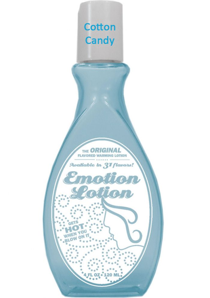 Emotion Lotion Flavored Water Based Warming Lotion Cotton Candy 4 Ounce