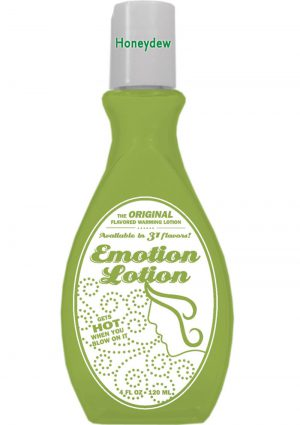 Emotion Lotion Flavored Water Based Warming Lotion Honeydew 4 Ounce