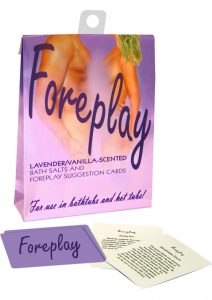 Foreplay Lavender Scented Bath Salts With Game Cards