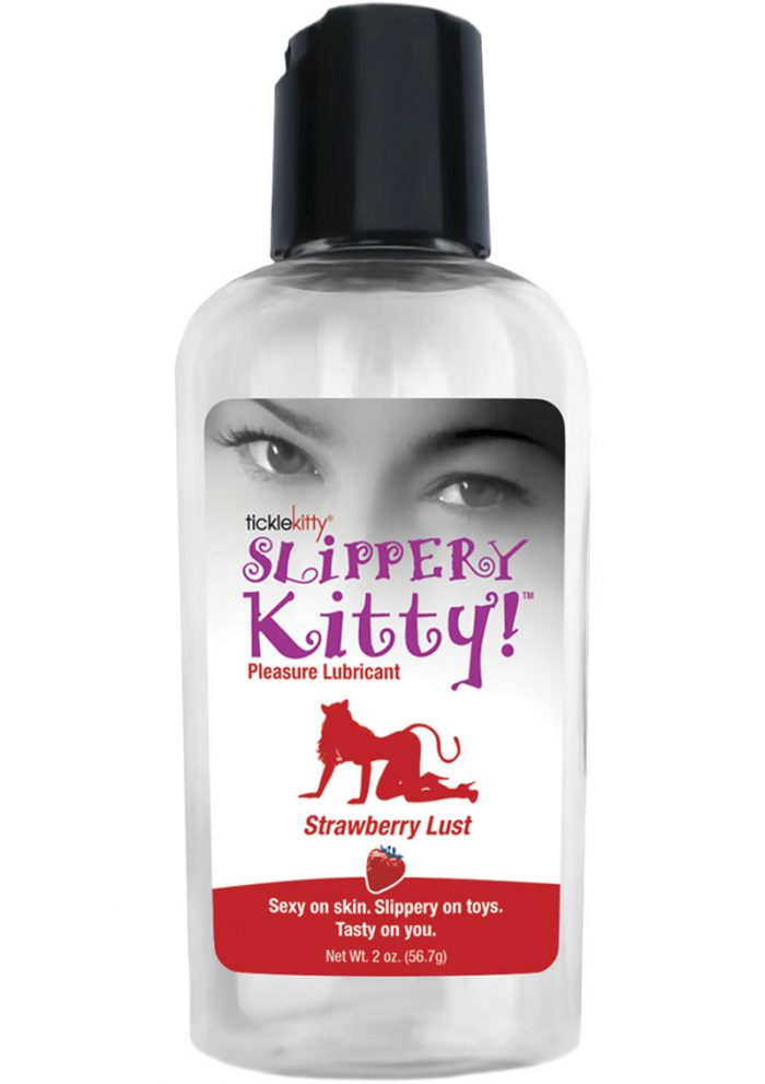 Slippery Kitty Flavored Water Based Lubricant Strawberry 2 Ounce