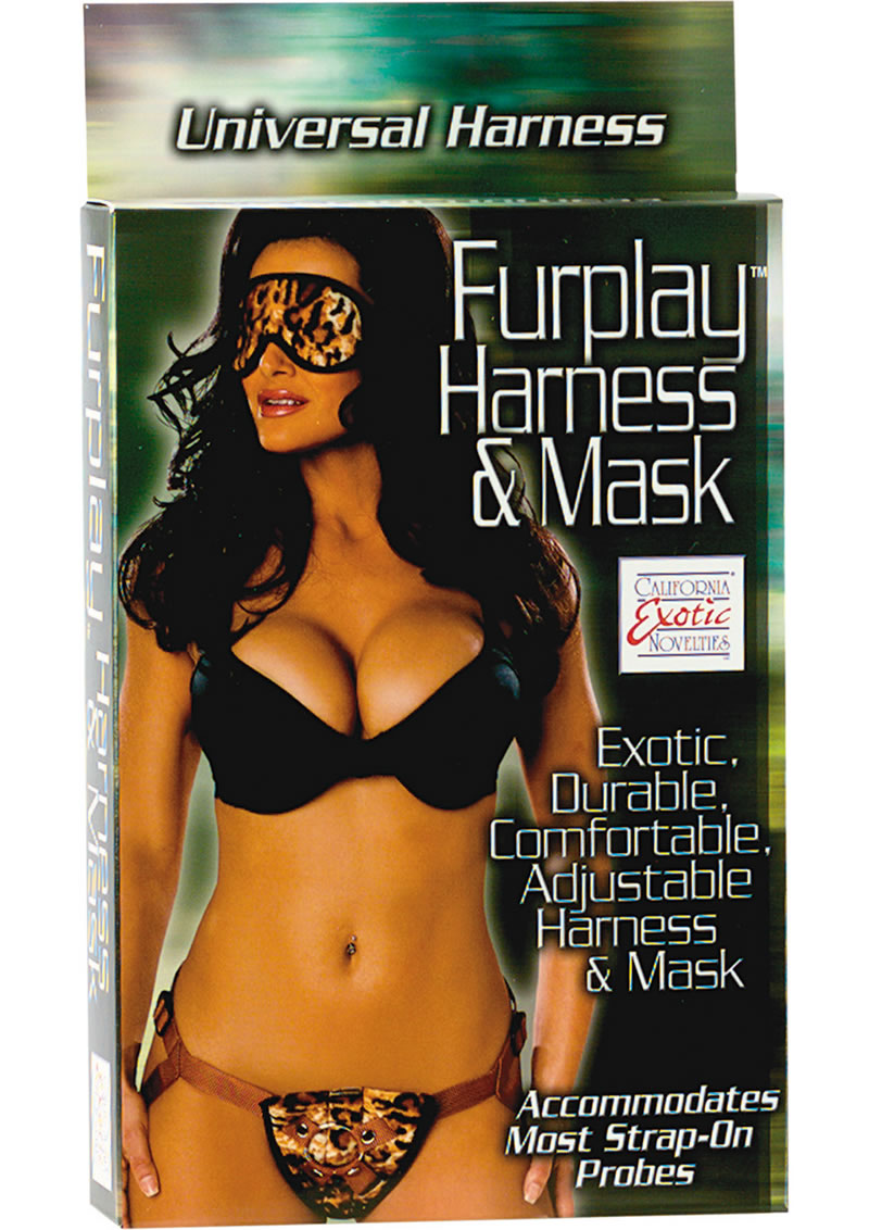 Furplay Harness And Mask Set Brown Tiger