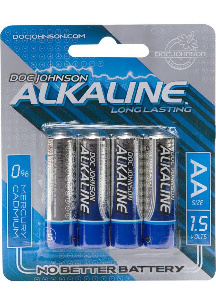 Doc Johnson Alkaline Batteries AA 4 Pack