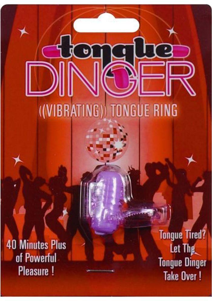 Tongue Dinger Vibrating Tongue Ring Purple