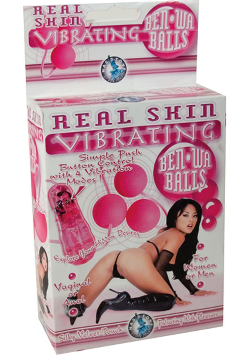 Real Skin Vibrating Ben Wa Balls Pink