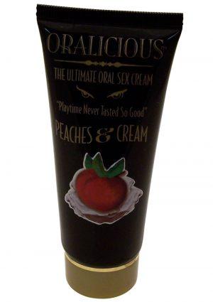 Oralicious Ultimate Oral Sex Cream 2 Ounce Peaches and Cream
