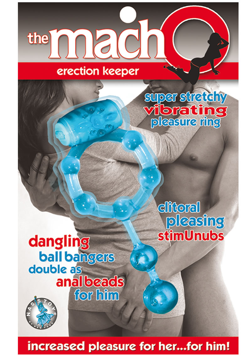 The Macho Erection Keeper Cock Ring Blue