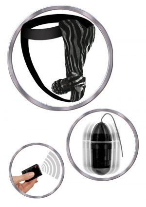 Remote Control Vibrating Fantasy Panty Waterproof Black