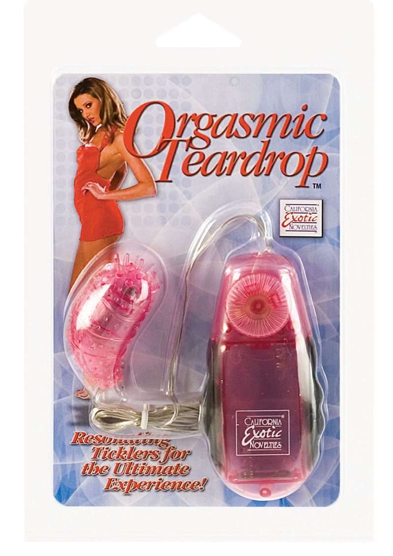 Orgasmic Teardrop Removable Jelly Soft Tear Drop With Stimulator With Ticklers 2 Inch Pink