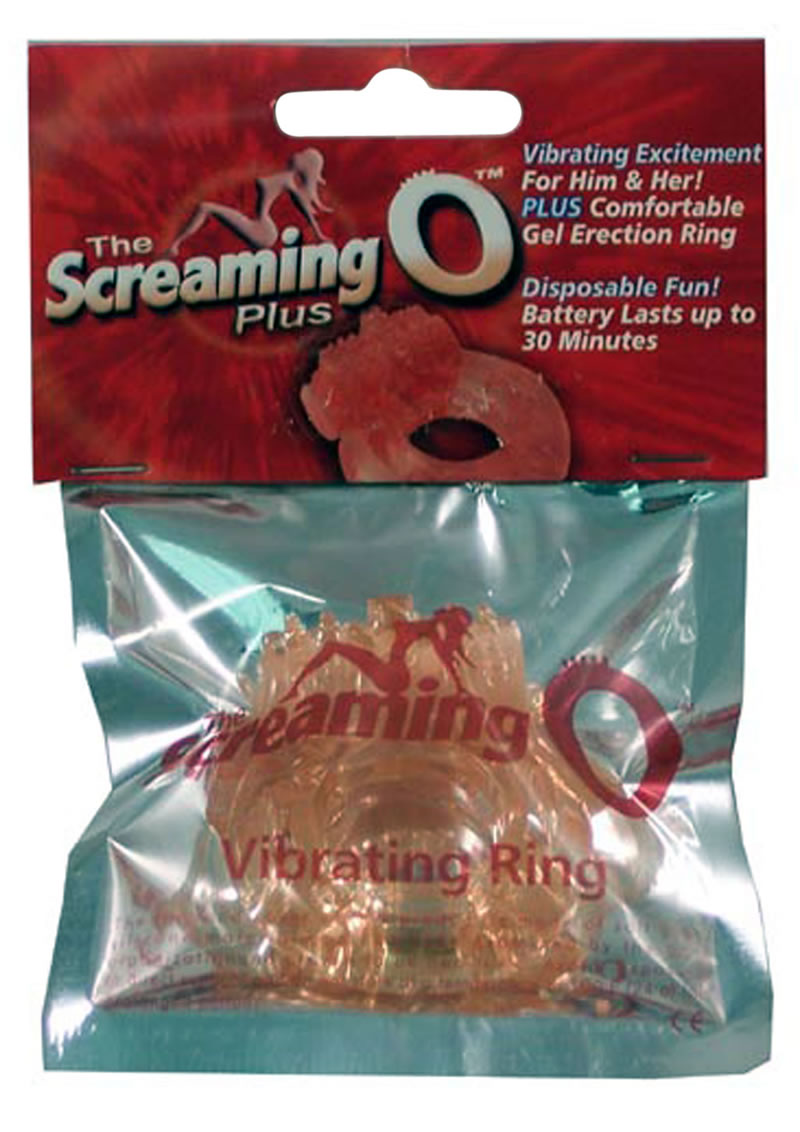 The Screaming O Plus Silicone Cock Ring Waterproof Flesh