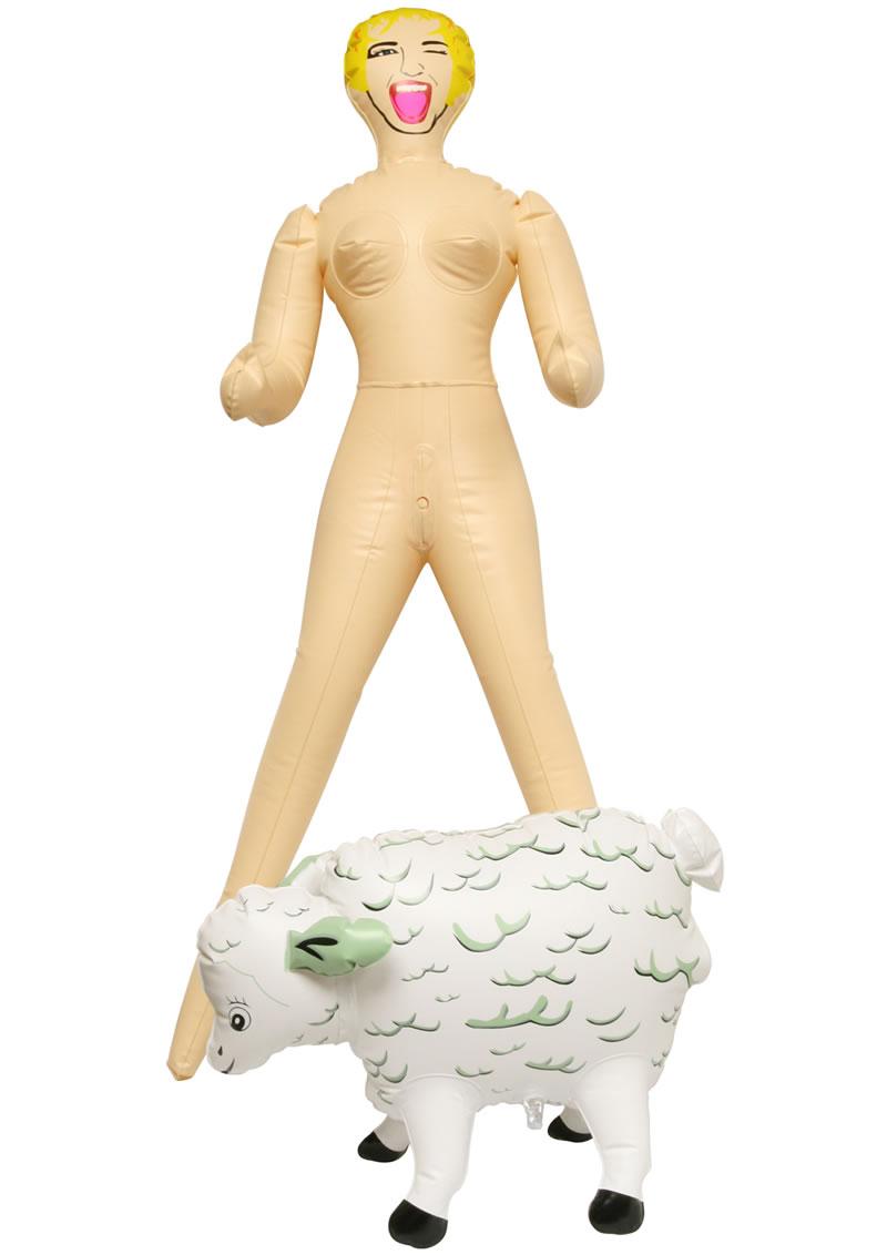 Lil Ho Peep And Her Sheep Mini Inflatable Doll Flesh