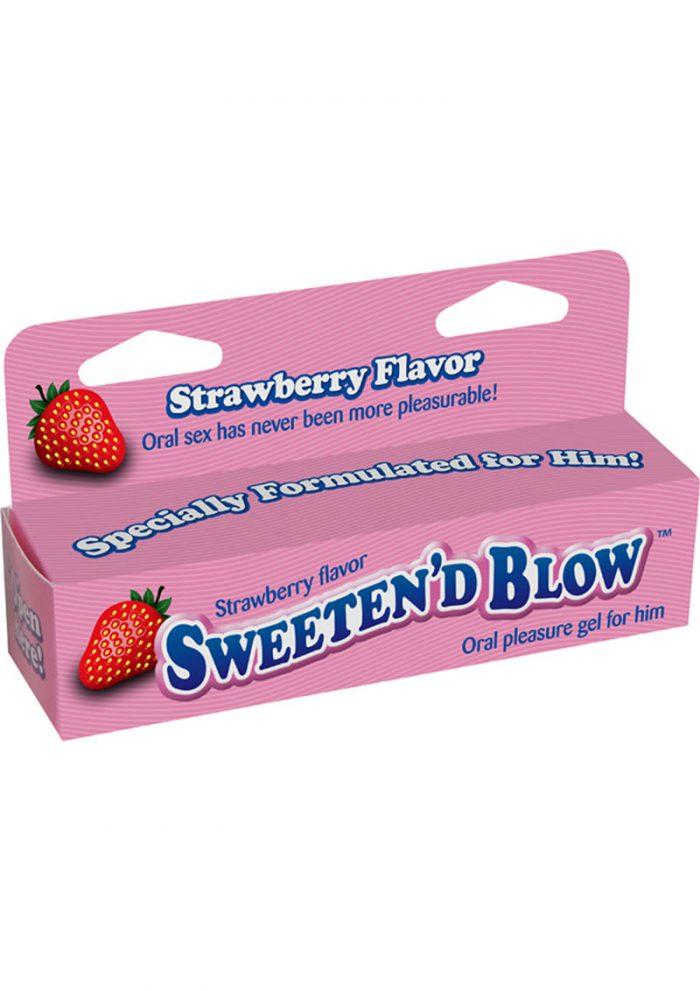 Sweeten D Blow Oral Pleasure Gel Strawberry 1.5 Ounce