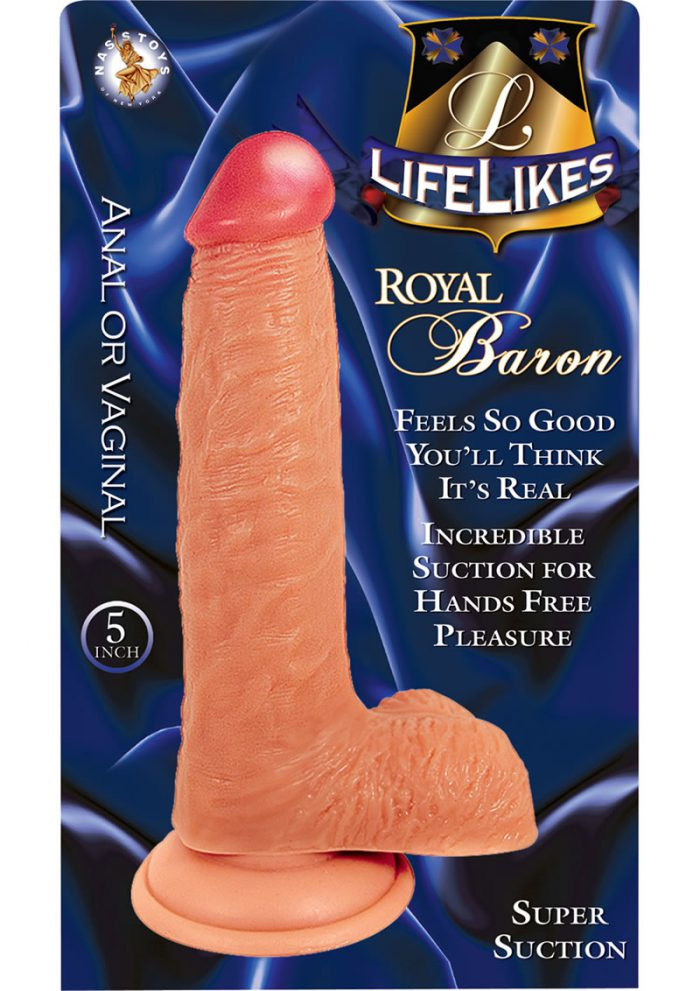 Lifelikes Royal Baron Dildo 5 Inch Flesh