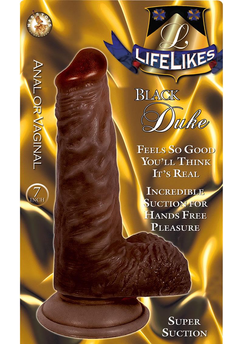 Lifelikes Black Duke Dildo 7 Inch Brown
