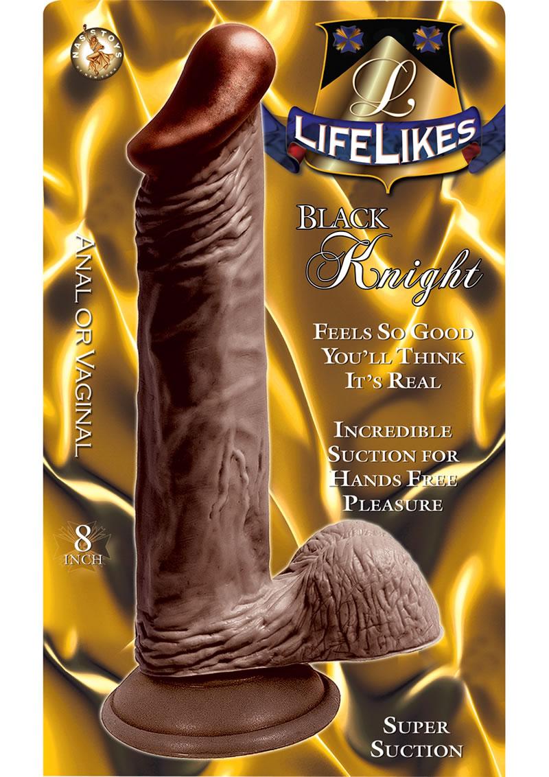 Lifelikes Black Knight Dildo 8 Inch Brown