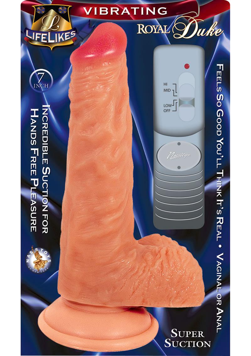 Lifelikes Vibrating Royal Duke Vibrator 7 Inch Flesh
