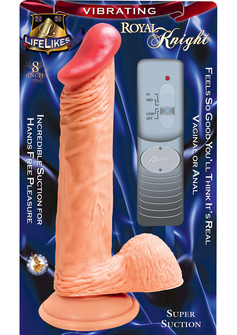 Lifelikes Vibrating Royal Knight Vibrator 8 Inch Flesh