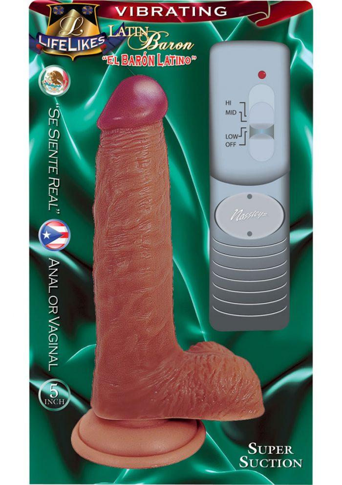 Lifelikes Vibrating Latin Baron Vibrator 5 Inch Flesh