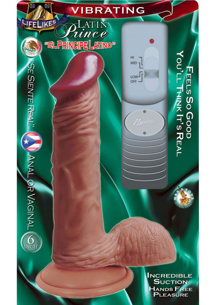 Lifelikes Vibrating Latin Prince Vibrator 6 Inch Flesh