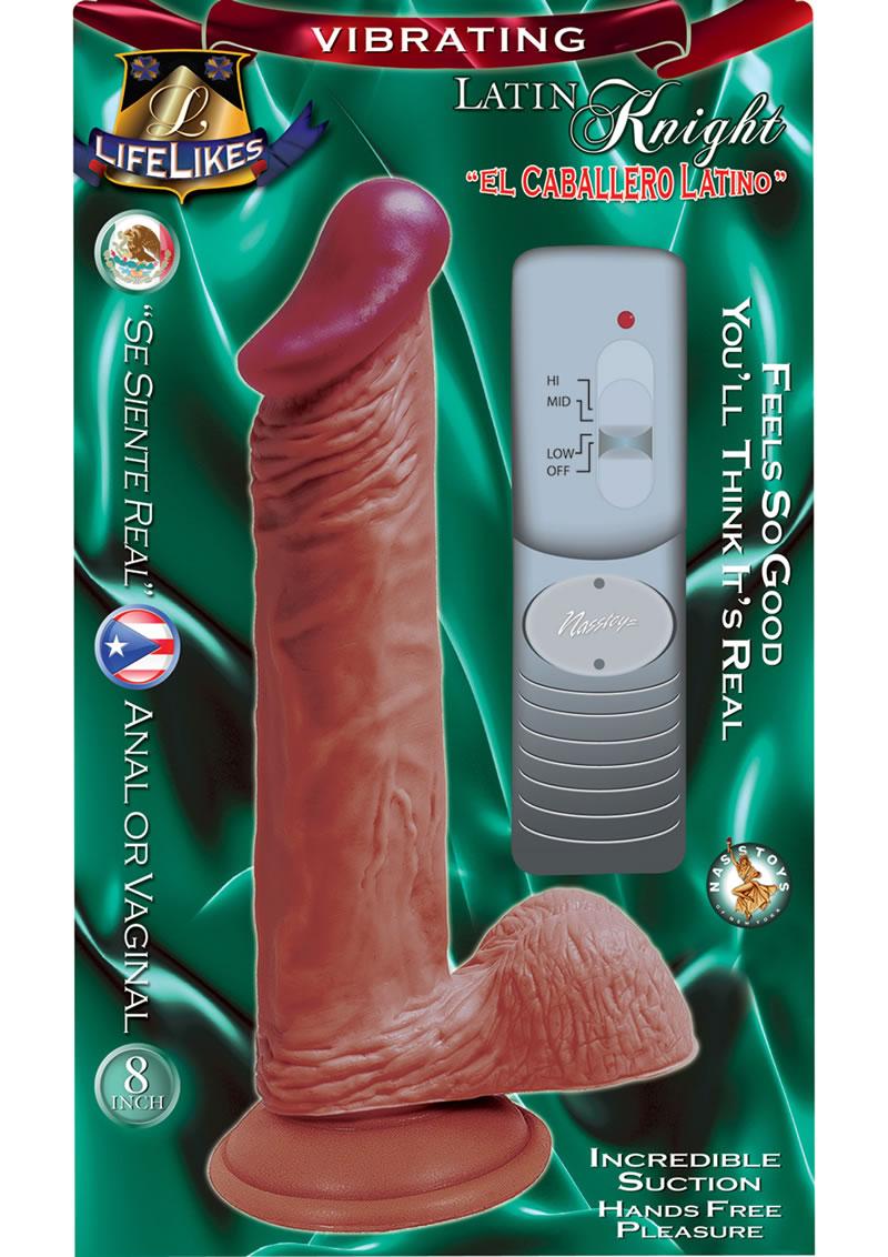 Lifelikes Vibrating Latin Knight Vibrator 8 Inch Flesh