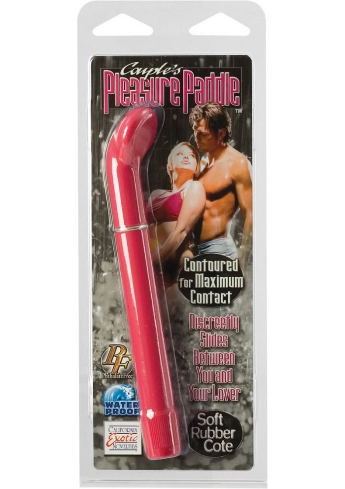 Couples Pleasure Paddle Vibrator Waterproof Pink 6.5 Inch