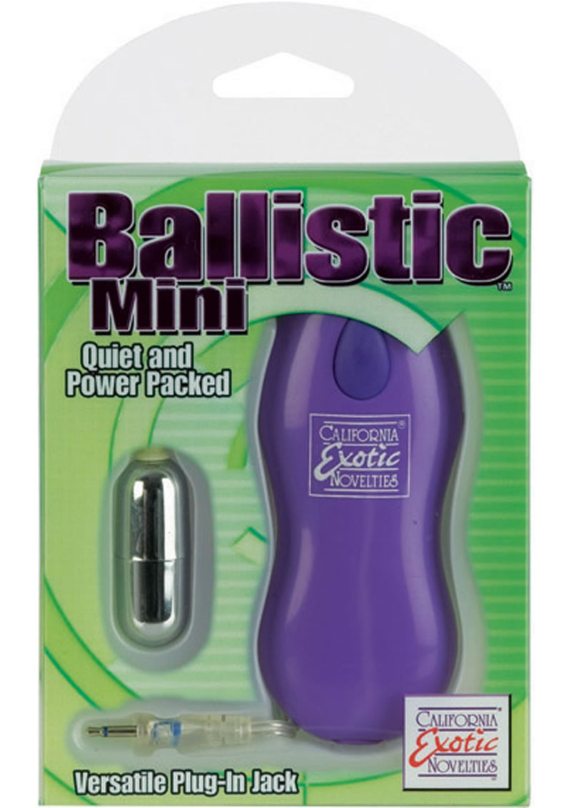 Ballistic Mini Bullet With Versatile Plug In Jack 2 Speed Remote 1.6 inch Purple