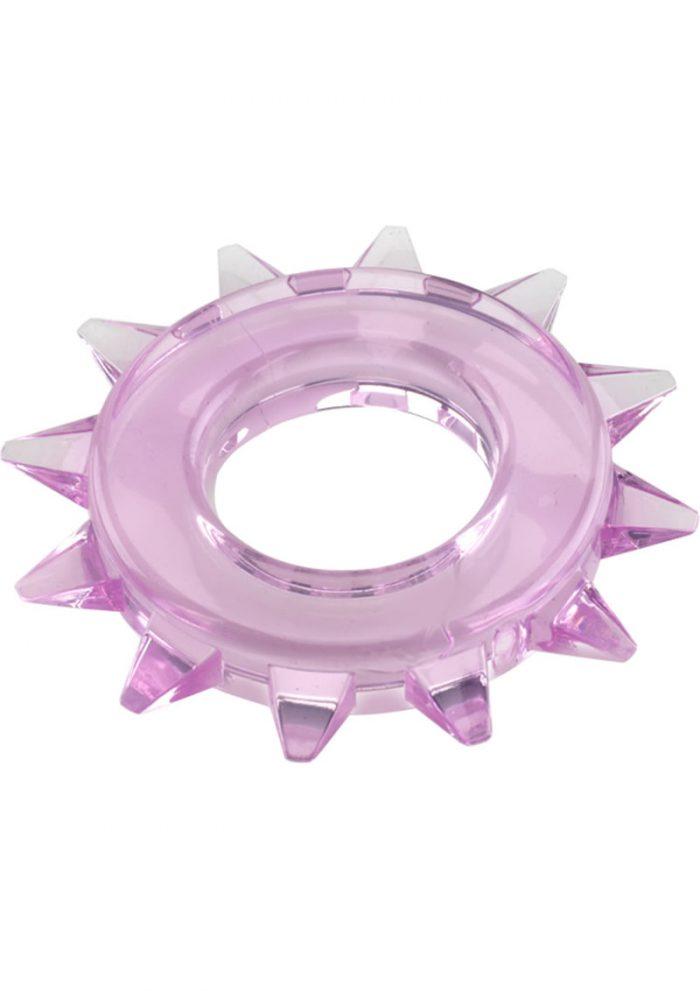 Elastomer Stud Cock Ring Purple