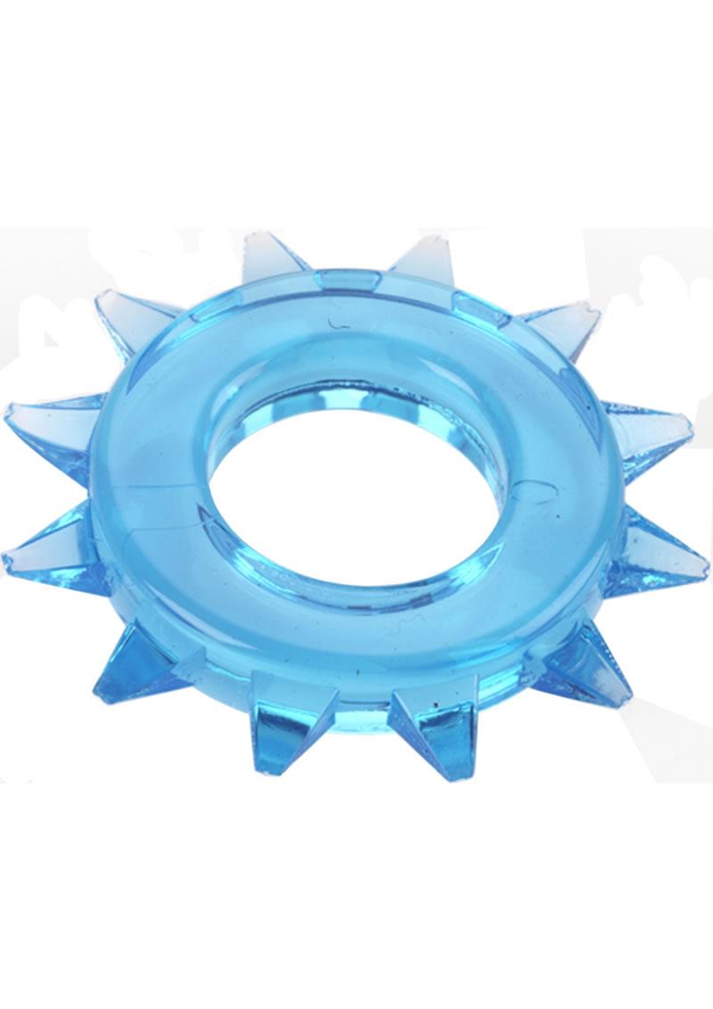 Elastomer Stud Cock Ring Blue