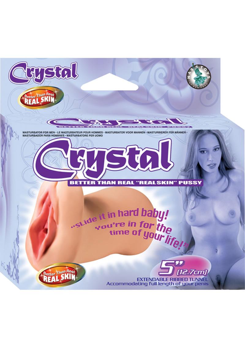 Crystal Better Than Real Real Skin Pussy Masturbator Flesh