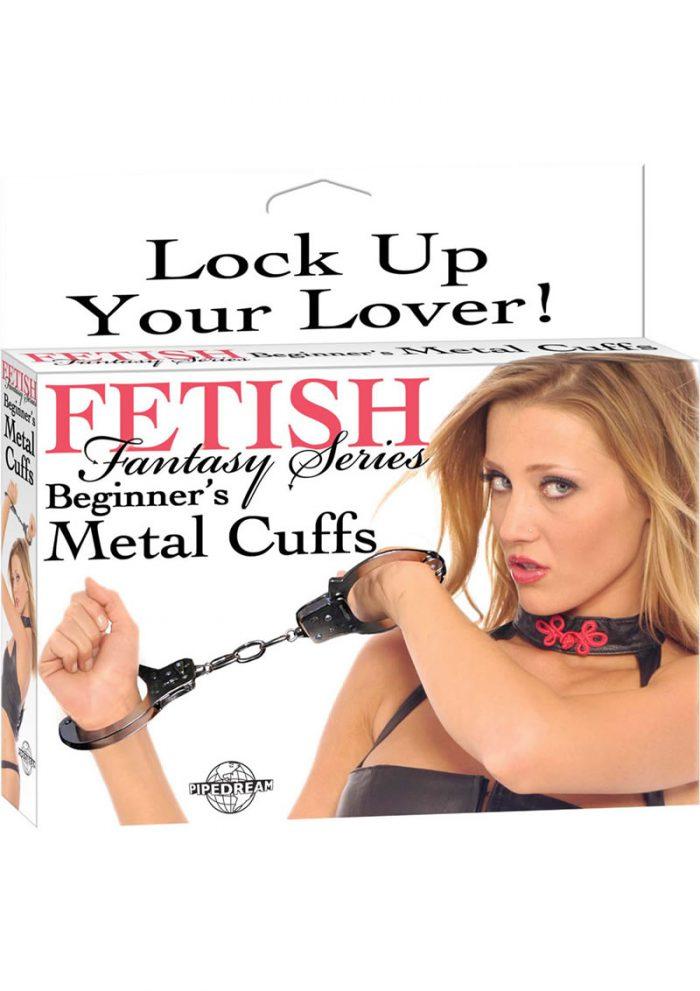 Fetish Fantasy Series Beginner Metal Cuffs Silver