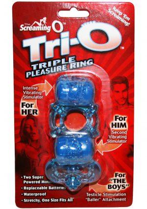 Screaming O Tri O Triple Pleasure Ring Silicone Waterproof