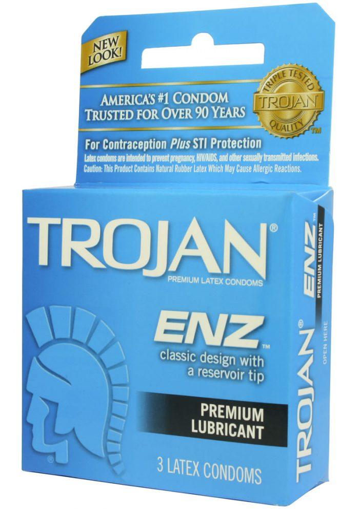 Trojan Condom Enz Lubricated 3 Pack