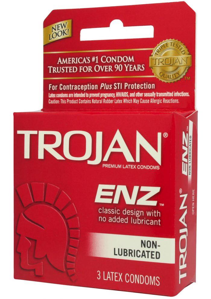 Trojan Condom Regular Non Lubricated 3 Pack