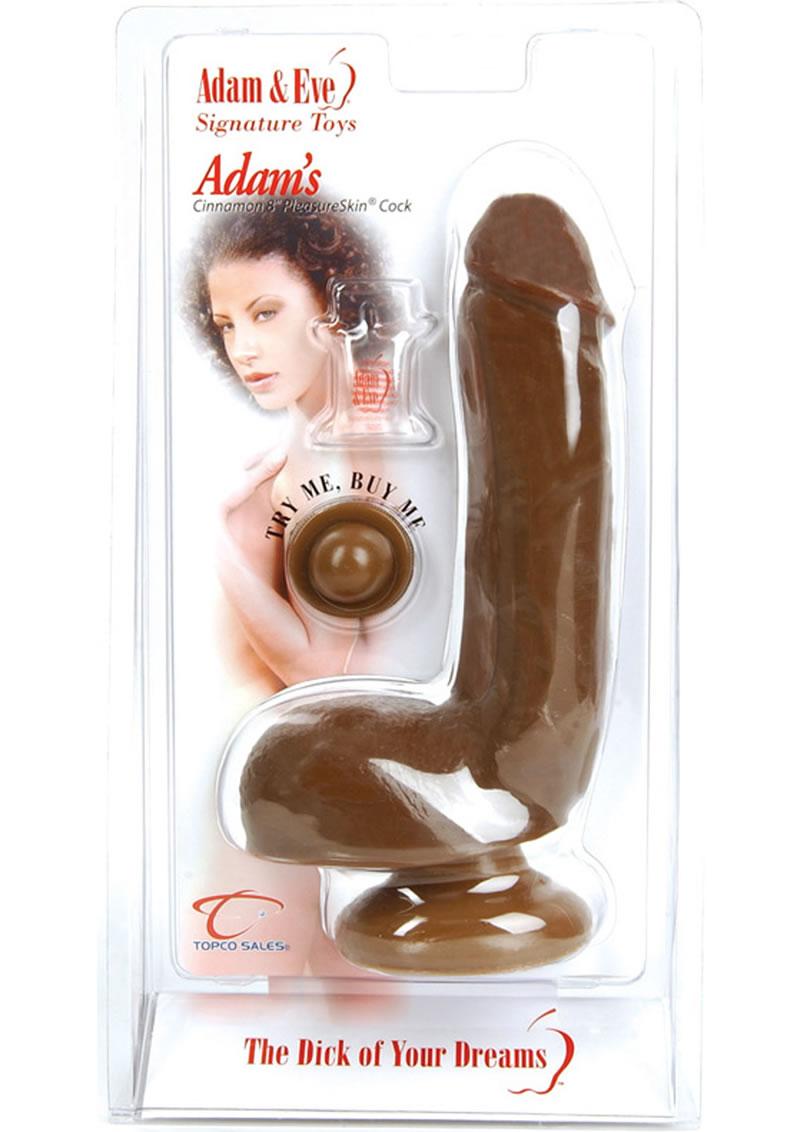 Adam`s Pleasureskin Cock Dildo 7.75 Inch Cinnamon