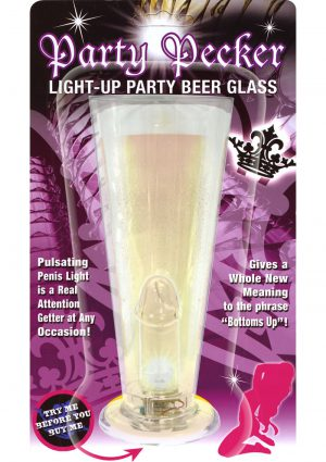 Party Pecker Light Up Party Beer Glass Clear
