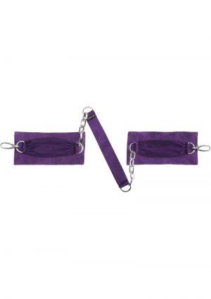 Sutra Chainlink Cuffs Purple