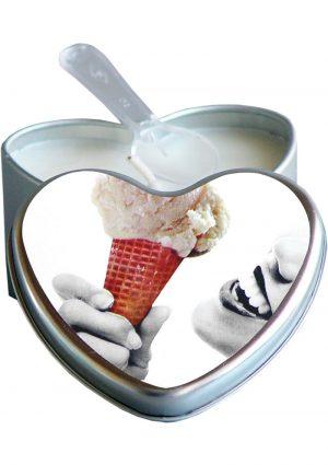 Edible Candle Heart Massage Oil Vanilla 4 Ounce