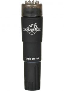 Black Magic Pocket Rocket Velvet Touch Waterproof 4.2 Inch Black