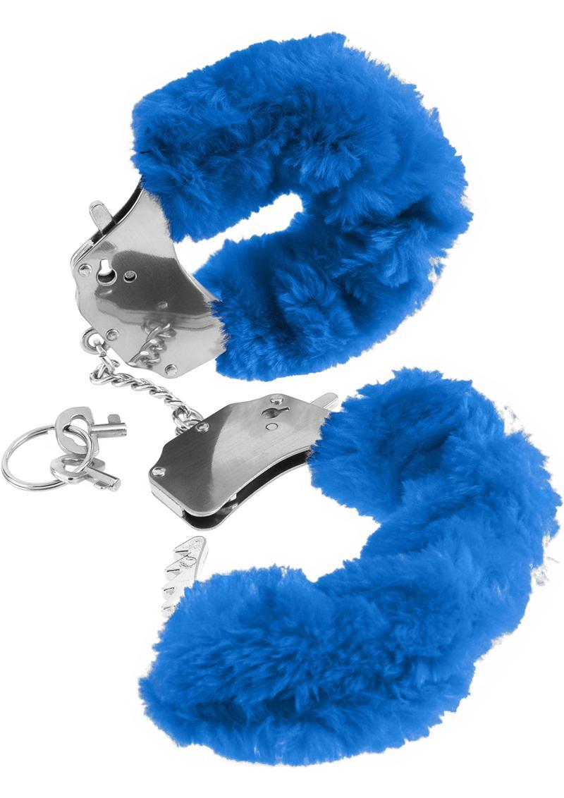 Fetish Fantasy Series Furry Cuffs Blue