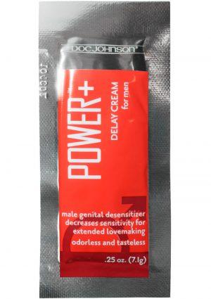 Power Plus Delay Cream For Men Foil Packs 48 Pieces Bulk