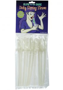 Bachelorette Party Favors Glow In The Dark Dicky Sipping Straws 10 Each Per Pack