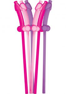 Bachelorette Party Flexible Dicky Super Straws 10 Per Pack