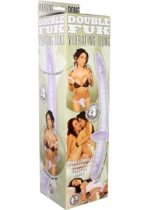 Double Fuk Vibrating Dong Strap On 13 Inch Clear